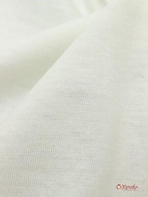 Трикотаж Кулирная гладь цв.Молочный 2, 1.96м (0.98м*2, чулок), Карде, хл-100%, 135гр/м.кв