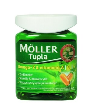 Möller Tupla Omega-3 + ADE-vit 100 капсул