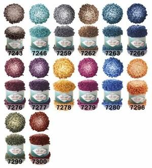 Alize(ТУРЦИЯ) [PUFFY FINE OMBRE BATIK] 100% микрополиэстер, 73 м, 500 г.