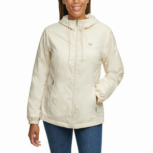 Calvin Klein Ladies' Fleece Lined Windbreaker, бежевая