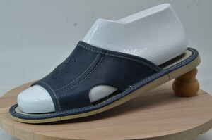 074-43 Обувь домашняя (Тапочки кожаные)