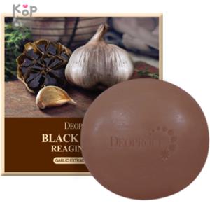 Deoproce Black Garlic Reaging Soap - Антивозрастное мыло с черным чесноком, 100гр.