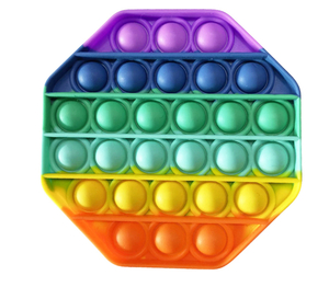 Вечная пупырка Антистресс силикон 'POP-IT' цвет Радуга в пакете