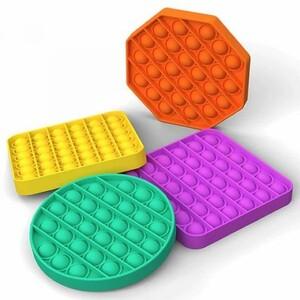 Вечная пупырка Антистресс силикон 'POP-IT' 12,5х12,5х1,5 см формы и цвета в ассортименте AN-MIX