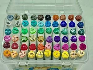 Маркеры TOUCH, 60 цветов (двухсторонние).