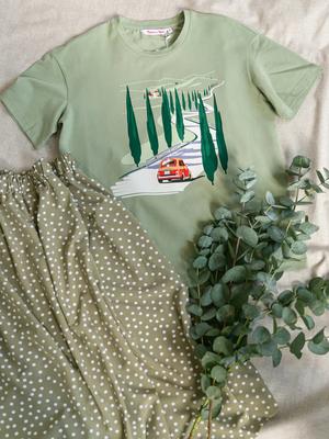 Юбка Зелёный горошек