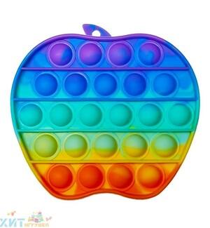 POP IT antistress Сенсорная игрушка ЯБЛОКО радужный / Вечная пупырка, popit_appl