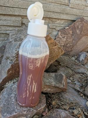 Эко бутылка 1л   с клапаном в крышке  Цвет  белый!