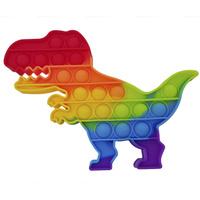 Антистресс силикон 'POP-IT' Радуга Динозавр в пакет
