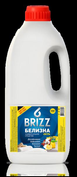 Средство универсальное  BRIZZ 2000г Белизна гель 4в1 лимон