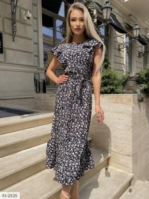 Платье миди из шолкового софта FJ-2535