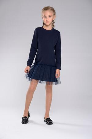 D555-5-19л Платье трикотажное отделка фатин