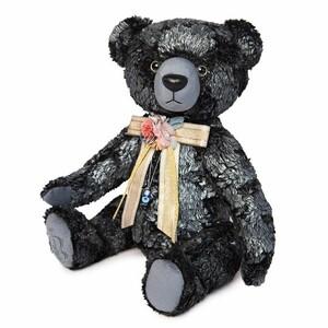 Медведь БернАрт-серебряный (металлик), 34см