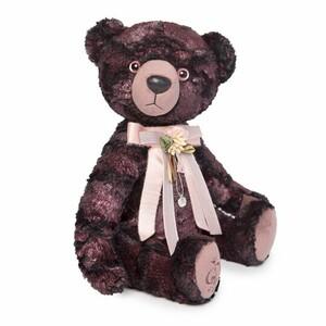 Медведь БернАрт-бордовый  (металлик), 34см