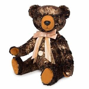 Медведь БернАрт-золотой (металлик), 34см
