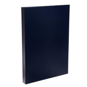 Папка для дипломных работ (без надписи) А4, Calligrata, бумвинил, гребешки/сутаж, без листов, синяя