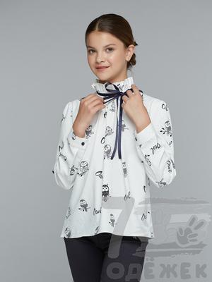 833 Блузка для девочки с длинным рукавом