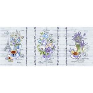 Ткань на отрез вафельное полотно набивное 150 см 12086/1 Прованс
