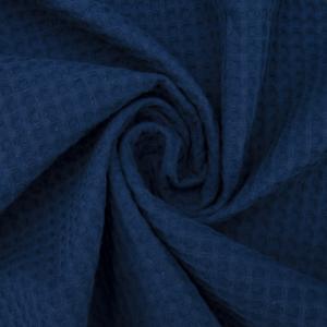 Ткань на отрез вафельное полотно гладкокрашенное 150 см 240 гр/м2 7х7 мм цвет 572 темно-синий
