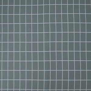 Ткань на отрез кулирка 1324-V1 Клетка цвет темный хаки