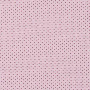 Ткань на отрез кулирка 1022-V59 Горох цвет розовый