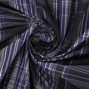 Ткань на отрез дюспо КТ0306 Клетка цвет фиолетовый