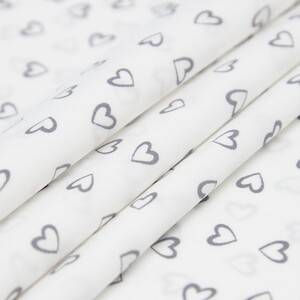 Ткань на отрез супер софт 2417 Сердечки цвет серый
