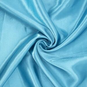 Ткань на отрез креп-сатин 1960 цвет морская волна