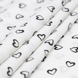 Ткань на отрез супер софт 2417 Сердечки цвет черный