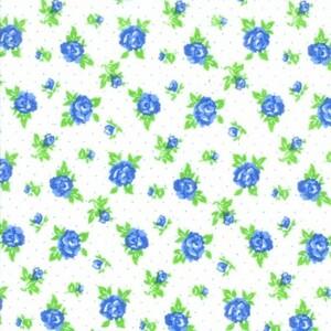 Ткань на отрез фланель белоземельная 90 см 198-1п Цветы на белом
