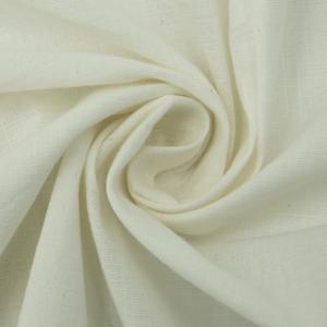 Ткань на отрез лен цвет молочный