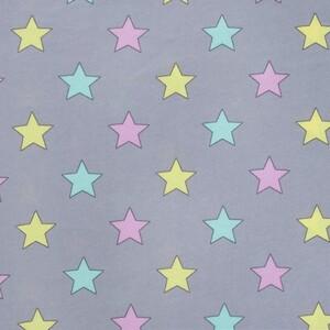 Ткань на отрез кулирка карде R-R5076-V1 Звезды