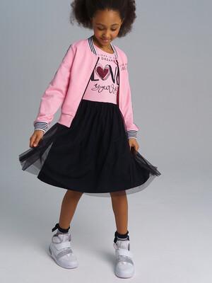 12121532 Платье трикотажное для девочек