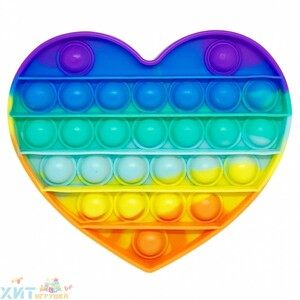 POP IT antistress Сенсорная игрушка с пузырьками СЕРДЦЕ / Вечная пупырка, popit_heart
