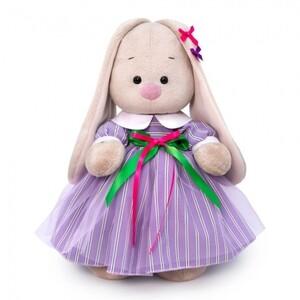 Платье лиловое в полоску (комплект одежды для Зайки Ми)  25см