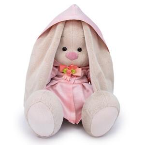 Плащ светло-розовый блестящий (комплект одежды для Зайки Ми) 23см