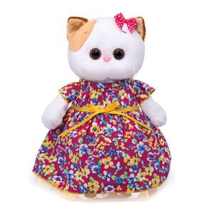 Платье ярко-розовое в цветочек (комплект одежды для Ли-Ли)  27см