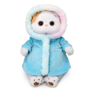 Голубая шубка с радужным мехом (комплект одежды для Ли-Ли) 27см