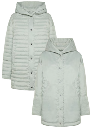5AW442 WOMAN REVERSIBLE HOODED DOWN JACKET