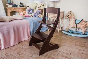 Растущий стул Павлин - Коричневый\Венге, Деревянный