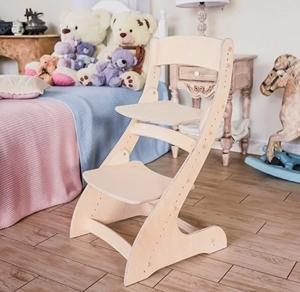 Растущий стул Павлин - БЕЗ покраски, Деревянный