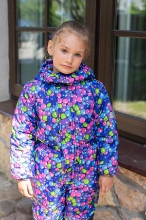 Детский Зимний Комбинезон Ньюскул расцветка Пузыри Синий