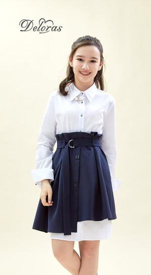 Платье Deloras 62702 Белый/Синий