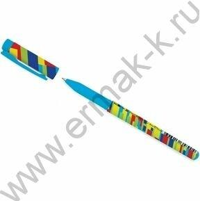 Ручка шар FreshWrite.Crazy. Полоски цветные синяя 0,7мм