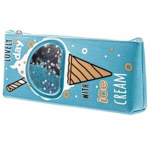 Пенал Hatber -Ice cream- БЛЕСТКИ 205*85*35мм на молнии NPn_33061 (12)