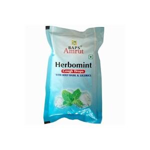 Baps Amrut. Леденцы от кашля Тулси Солодка (Herbomint Cough Drops), 20 шт