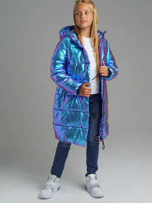 22021123 Пальто текстильное для девочек