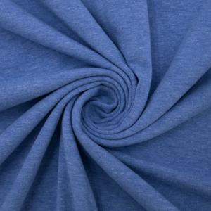 Ткань на отрез кулирка 6029 меланж цвет василек