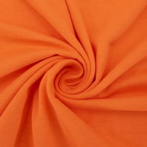 Ткань на отрез кулирка гладкокрашеная карде М-2044 цвет оранжевый