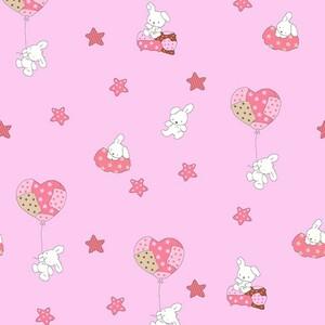 Ткань на отрез поплин 150 см 1722/4 цвет розовый